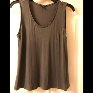 Eileen Fisher Charcoal Sleeveless Cami Tank Top PM